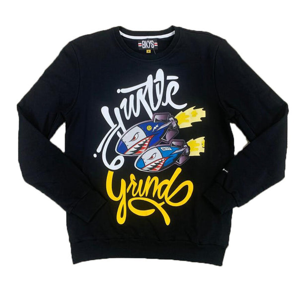 BKYS-Hustle & Grind Sweatshirt-Black