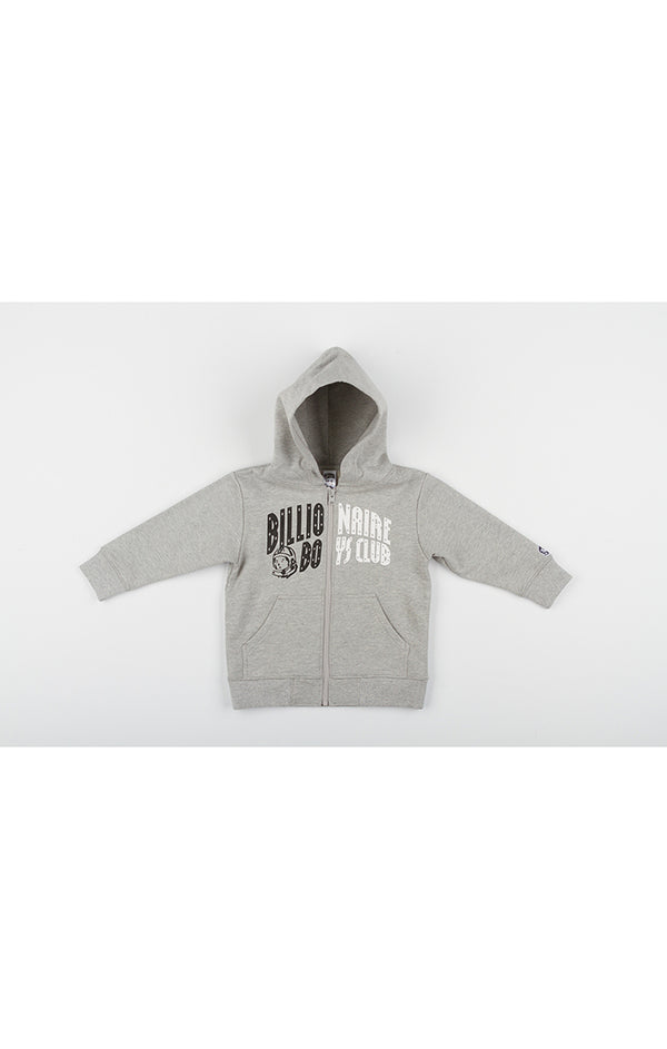 B.B.C Kids-BB Arch Zip Hoodie-Heather Grey