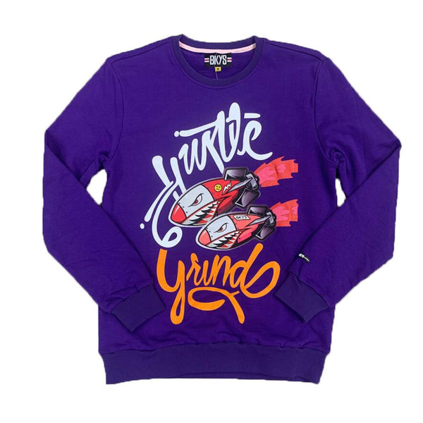 BKYS-Hustle & Grind Sweatshirt-Purple