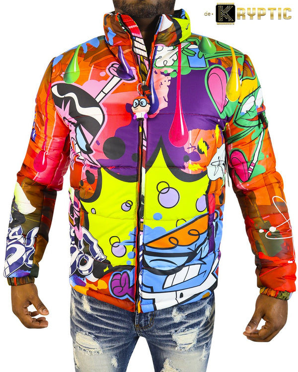deKryptic x Dexter's Laboratory™-Science Red Bubble Jacket