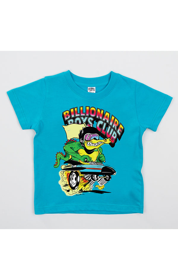 B.B.C Kids-BB Racing Team S/S Tee-Scuba Blue