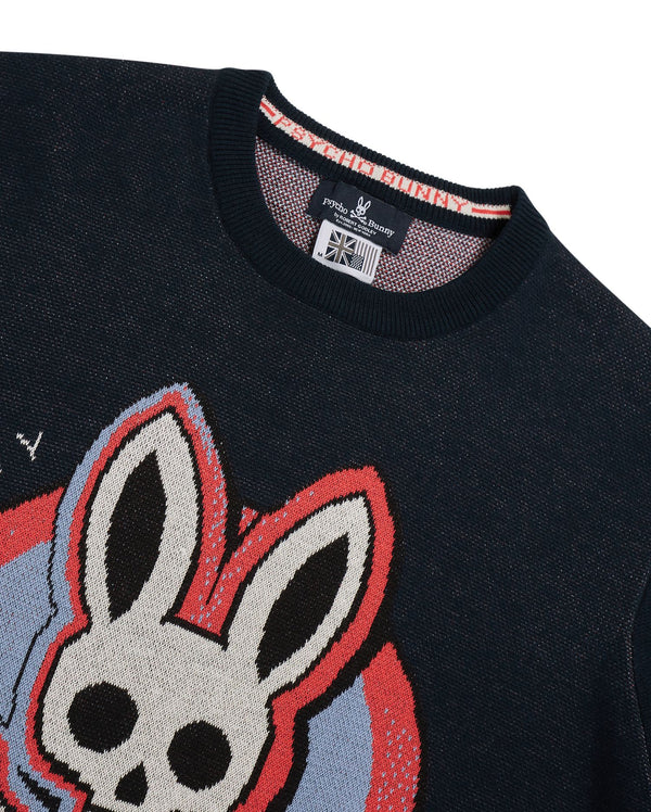 Psycho Bunny-Norbury Sweater-Navy Blue