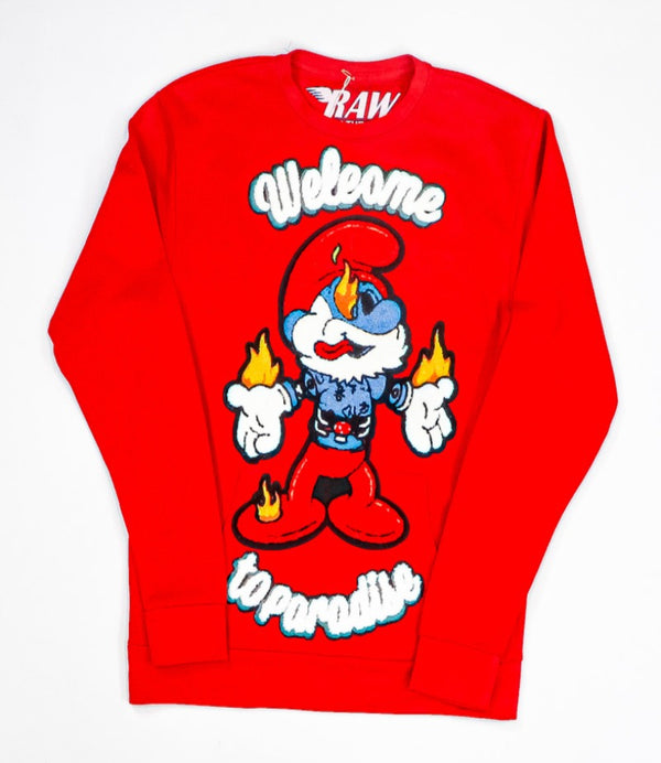Rawyalty-Fire Smurf Crewneck-Red