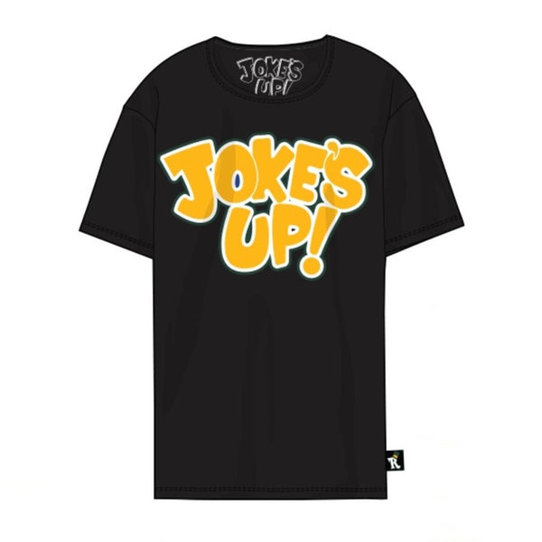 Jokes Up Tee-Black