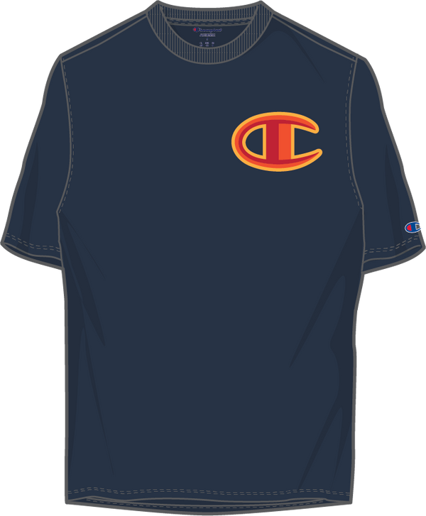 Champion-Floss Stitch C Logo-Navy/Red-GT19Y07981
