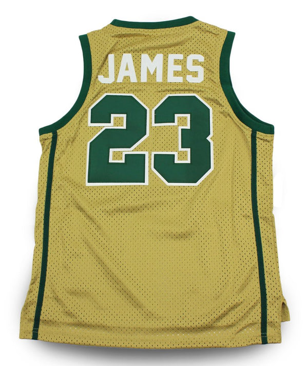 Head Gear-Lebron James Fighting Irish High School Youth Basketball Jersey
