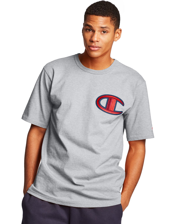 Champion-Floss Stitch C Logo-Grey-GT19Y07981