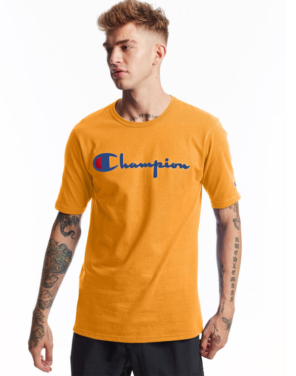 Champion-Hertiage Short Sleeve Tee C Gold-GT19Y08252