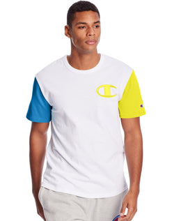 Champion-Heritage Colorblock Tee, C Logo-White-T7041551148