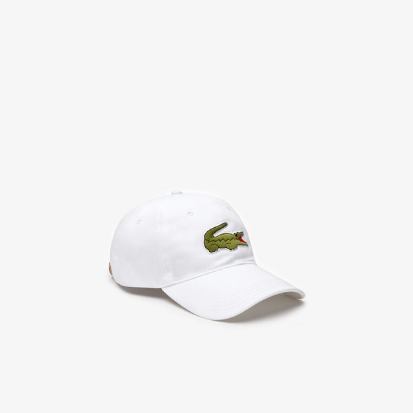 LaCoste-Men's Oversized-Croc Cap-White • 001-RK4711-51