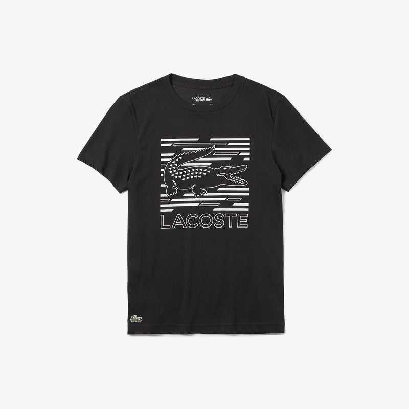 LaCoste-SPORT Ultra-Dry Graphic Tee-Black-TH4834-B