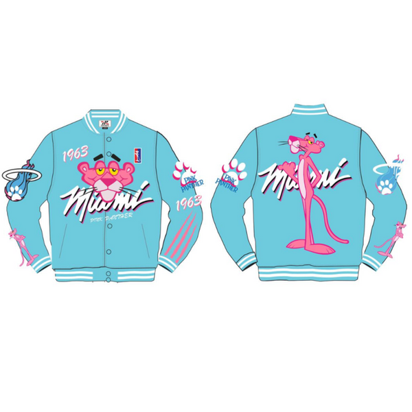 Headgear Classic-Pink Panther Satin Jacket-Miami Blue