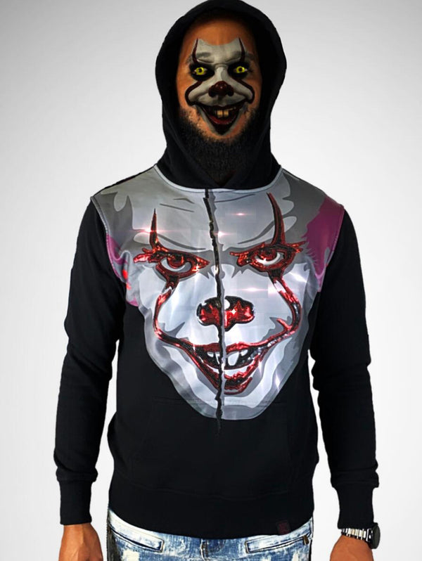 De Kryptic-IT-Chapter 2  Sequined Hoodie-Black