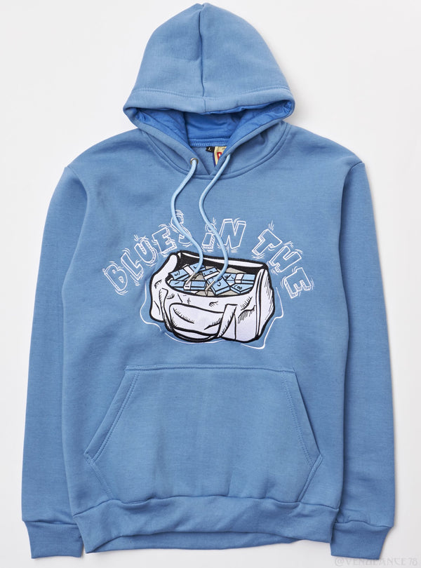 Retro label-3'S Blues Hoody-C.Blue