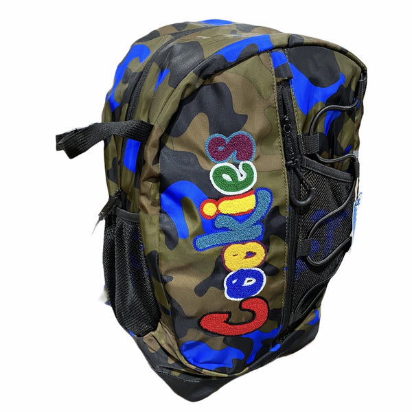 "Cookies-Smell Proof ""The Bungee"" Nylon Backpack-Blue Camo"