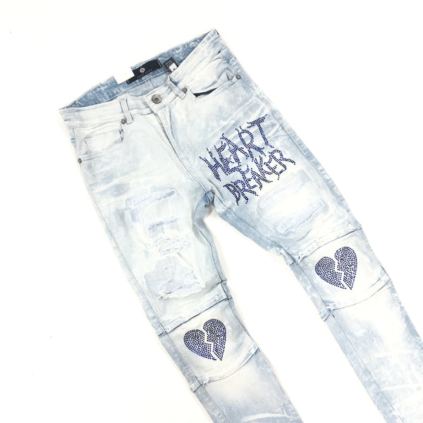 Focus-Heart Breaker Denim Jeans-Light Wash