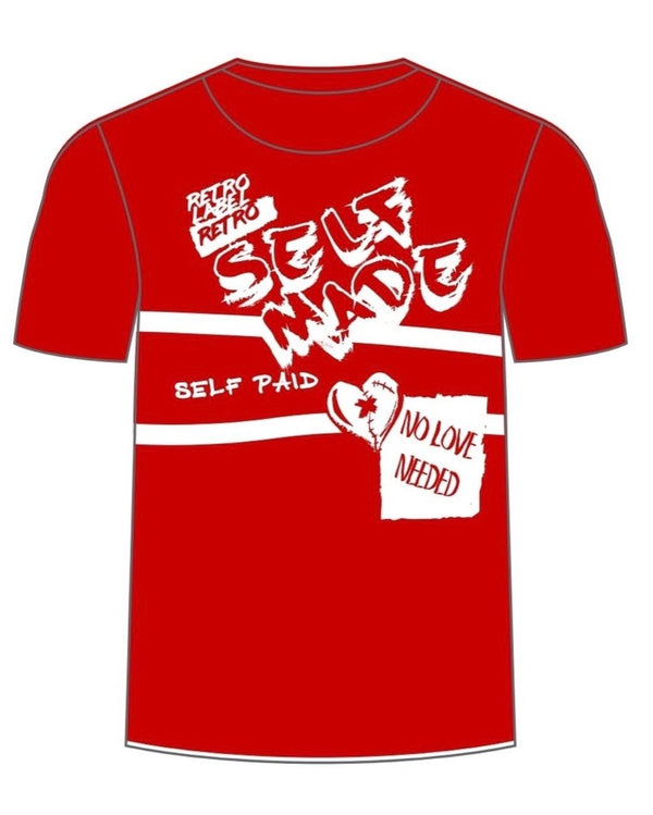 Retro Label-Self Made-Red