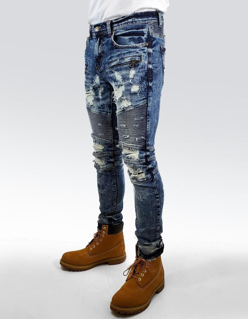 Preme Jeans-Destroyed Denim-Blue Indigo