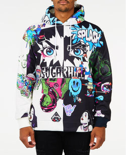 Sugarhill-Split Black & White Psycho Hoddie