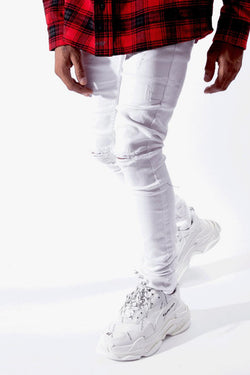Serenede-Everest Peak Jeans-White