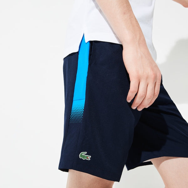LaCoste-Men's SPORT Lightweight Tennis Shorts-Navy Blue/Blue • 6WF-GH3572
