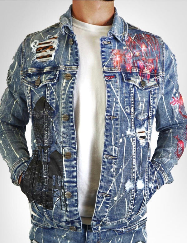 Industrial Indigo-Tiger Denim Jacket-Indigo