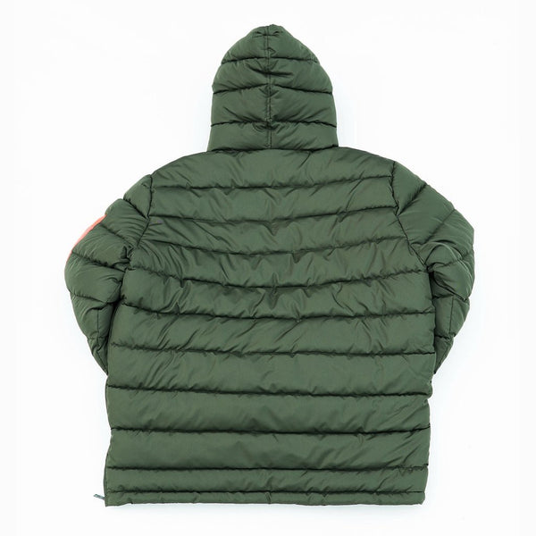 Rebel Minds-Anorak Puffer Jacket-Olive