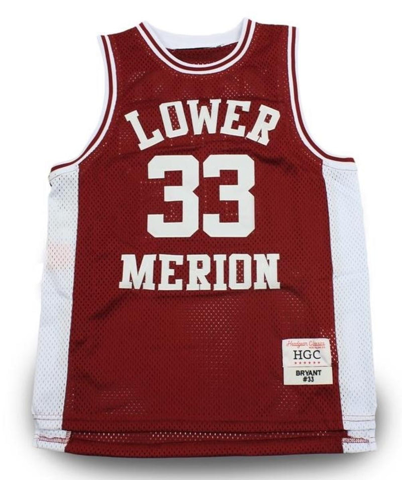 Head Gear-Kobe Bryant Lower Merion H.School Jersey-Burgundy-HGA04-BBJ-03