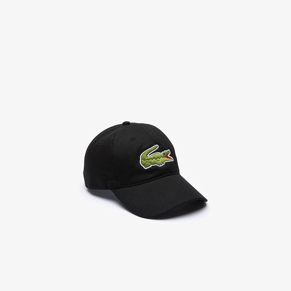 LaCoste-Men's Oversized-Croc Cap-Black • 031-RK4711-51