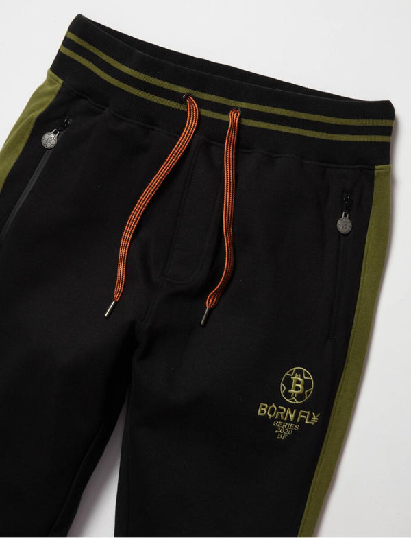 Born Fly-Swiss Franc Sweatpants-Black