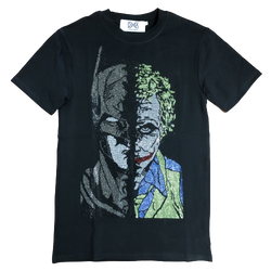 DNA-Joker/Batman Stone Tee-Black