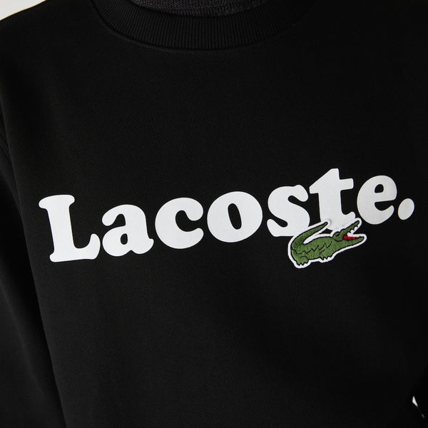 LaCoste-Lacoste And Crocodile Branded Fleece Sweatshirt-Black • 031-SH2173