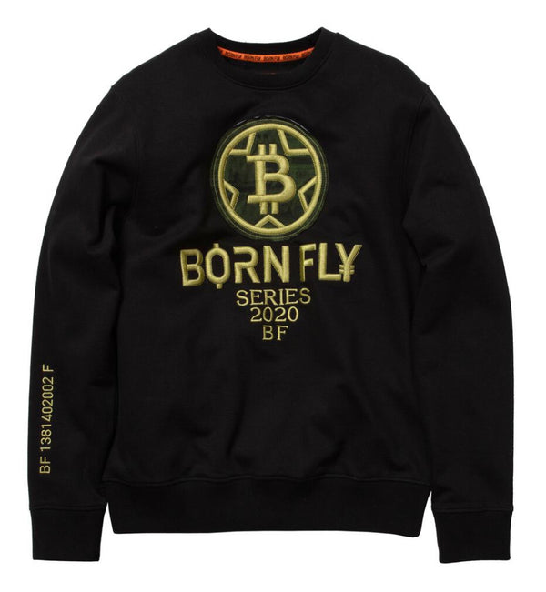 Born Fly-Peso Graphic Crewneck-Black