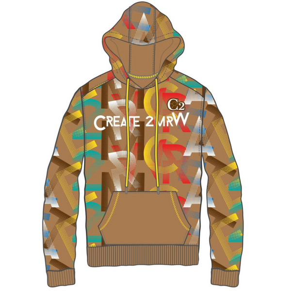 Create 2mrw-Fleece Hoodie-Timber
