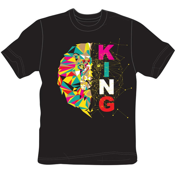 Create 2mrw-Half King Tee-Black