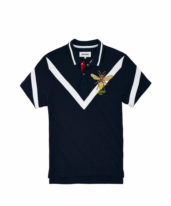 Reason Clothing-Westfield Polo Fit-Navy Blue-Q8-115-113