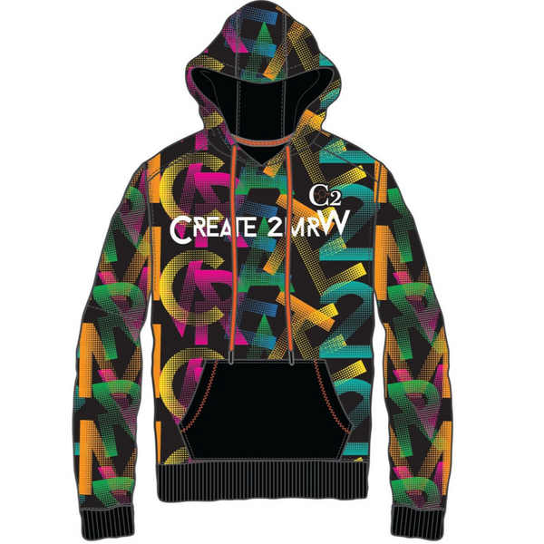 Create 2mrw-Fleece Hoodie-Black