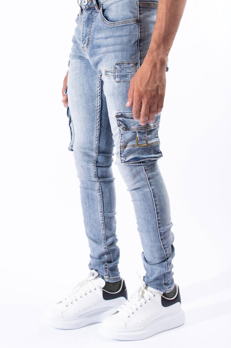 Serenede-New Earth Cargo Jeans-Blue