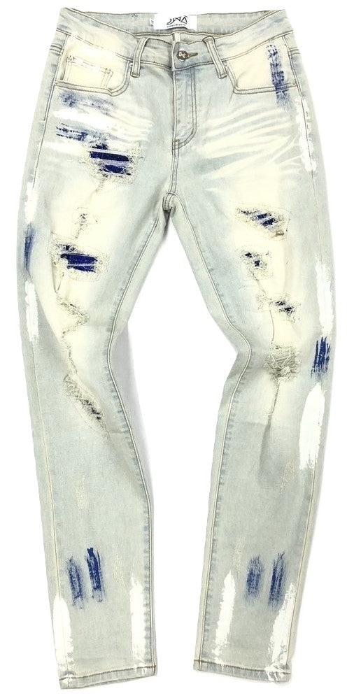 DNA-Royal Stone/Paint Splatter Jeans