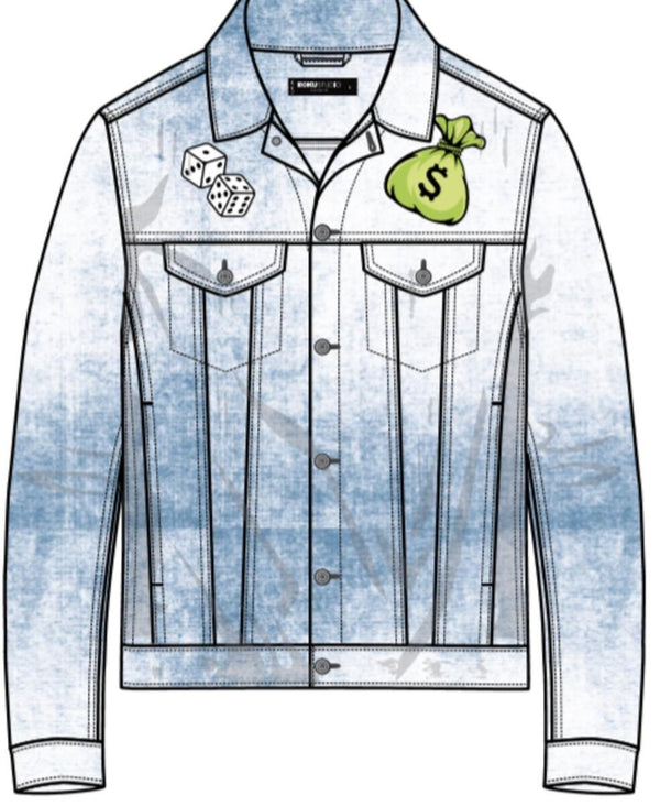 Roku Studio-Angel Money Bag Denim Jacket-Light Wash