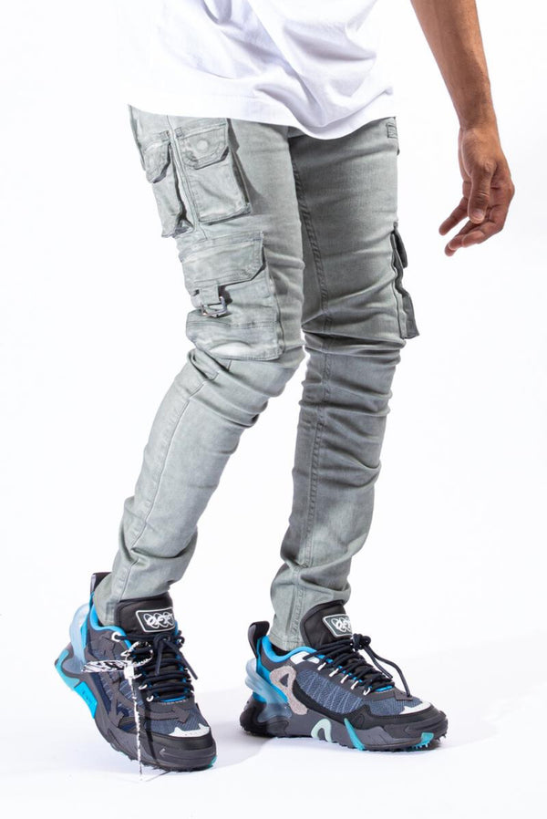Serenede-Timber Wolf Cargo Jeans-Artic Grey