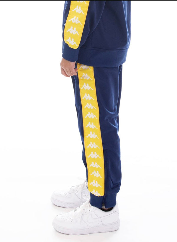 Kappa Kids-222 Banda Rastoriazz Trackpants-Blue/Yellow