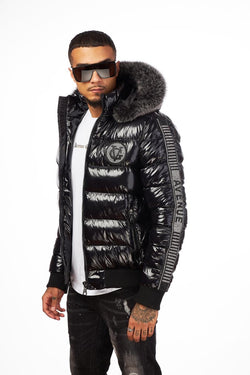 George V-GV Puffer Jacket-Black