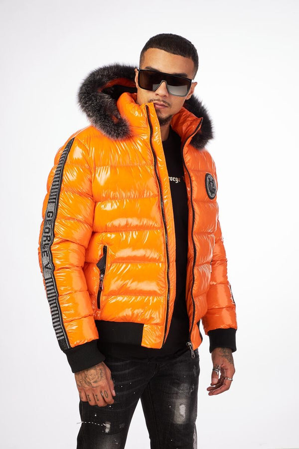 George V-GV Puffer Jacket-Orange