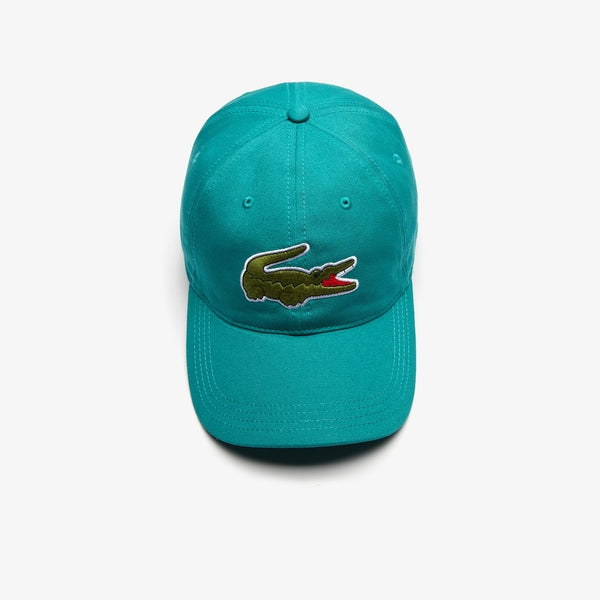 LaCoste-Men's Oversized-Croc Cap-Green • S5J-RK4711-51