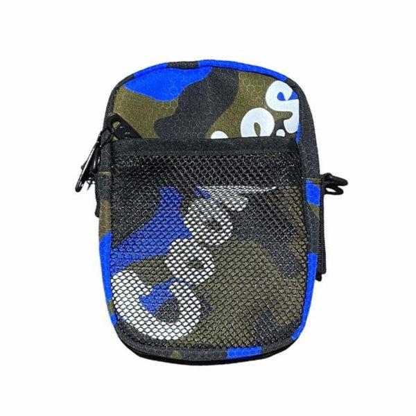 Cookies Layers Smellproof Honeycomb Shoulder Bag-Blue Camo