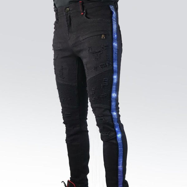 Preme Jeans-Light Blue Stones-Black-PR-WB-444