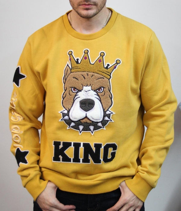 TOP GUN-KING CREWNECK MUSTARD TGD1908