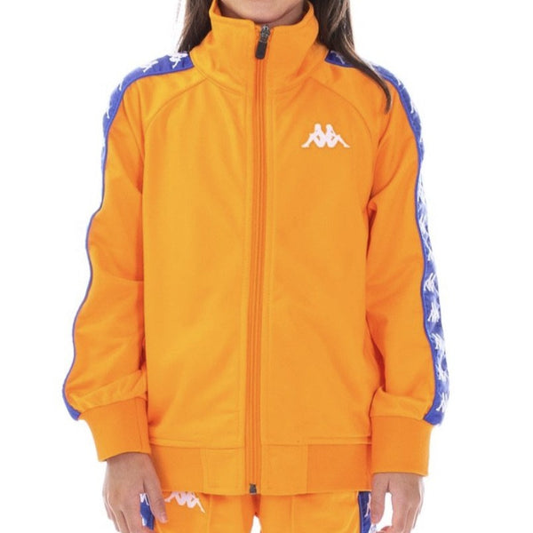 Kappa Kids-22 Banda Annistion Track Jacket-Orange/Royal