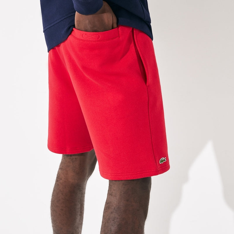 laCoste-Men's SPORT Tennis Fleece Shorts-Red • 240-GH2136-51